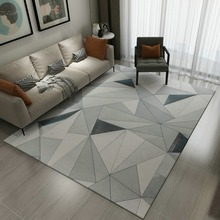 Simple Modern Pastoral Rectangular Ground Mat Carpet For Living Room Nordic art abstract Rug Sofa Tea Table Bedroom Children