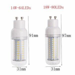 Image 3 - 新しい調光対応ledトウモロコシ電球4014 smd 14ワット18ワット25ワットledスポットライトe27 e26 e12 e14 b22 gu10 g9 110ボルト220ボルトウォーム/コールドホワイトledランプ