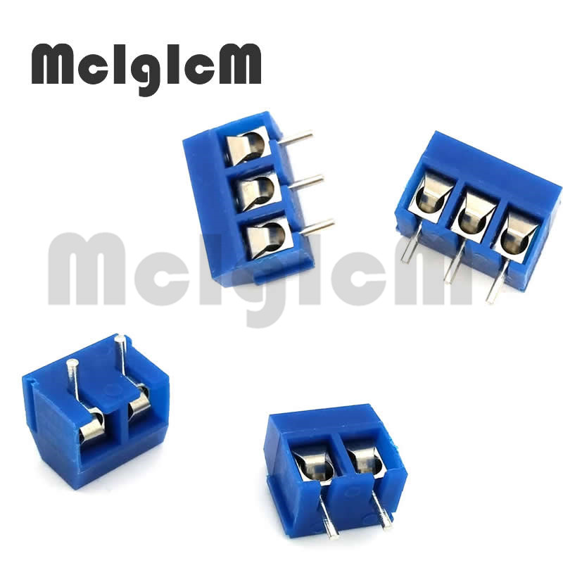 Screw Terminal Block Connector KF301 5.0 2 Pin 3 Pin Pitch 5mm KF301 2P  3P PCB Straight Round Pin With Screw