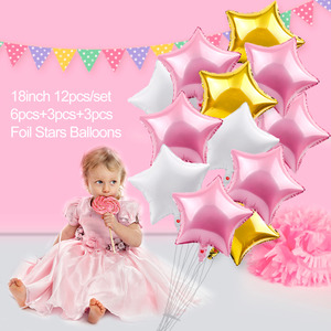 Image 3 - PATIMATE 3rd Birthday Balloon Party Decoration 3 Years Old Blue Boy Number Balloons Foil Helium Balloon Party Supplies Pink Girl