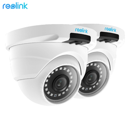 Reolink PoE IP Camera HD 4MP 5MP Outdoor Indoor Weatherproof Dome 1920P Home Video Surveillance IR Cam RLC-420-2 (2 pack)