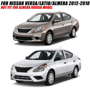 Image 3 - For Nissan Versa Latio Almera Air Vent Rear Trunk Chrome Cover Trim Molding Accessories Car Styling 2012   2018 2015 2016 2017