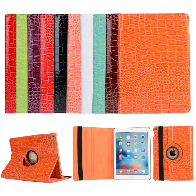 Rotary 360 Degree Rotating Crocodile Pattern Folio Stand PU Leather Skin Shell Cover Case For Apple Ipad Pro 9.7Inch Tablet