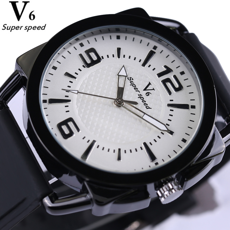 Quartz Watch Men Top Brand Luxury Sports Fashion Waterproof Watches Mens Wristwatch Silicone strap reloj Relogio Masculino V0268 hongc watch men quartz mens watches top brand luxury casual sports wristwatch leather strap male clock men relogio masculino