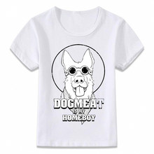 Kids Clothes T Shirt Dogmeat Is My Homeboy Fallout T-shirt Boys and Girls Toddler Tee(China)