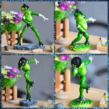 Free shipping Baby and Big Frog Figures Resin toys Dancing Michael Series cake car office desk home decoration party favor gifts