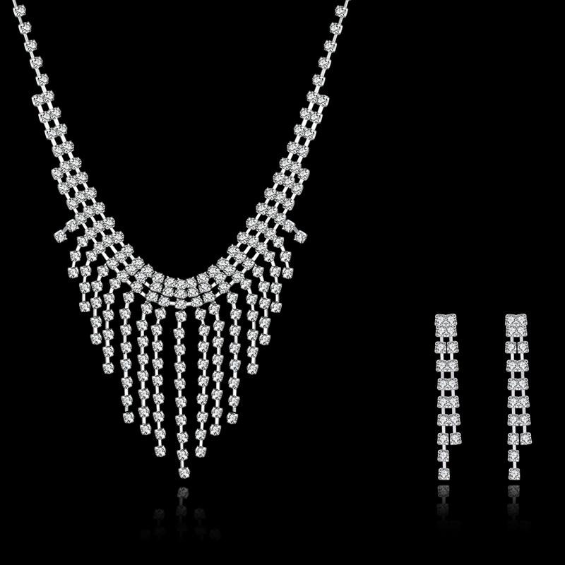 JEXXI Women Crystal Bridal font b Wedding b font font b Jewelry b font Set Fashion