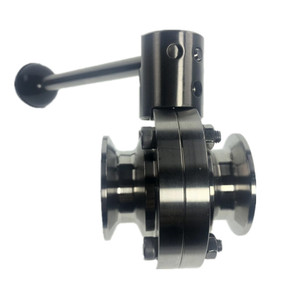 Image 4 - DN25 DN50 Tri Clamp Sanitary Stainless Steel SS304 Butterfly Valve Silicon Seal Pull Handle Home Brew Valve