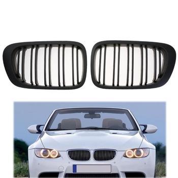 1 para dwa drzwi przednia nerka grill dla BMW E46 320CI 325CI 330CI 98-02 kratka wyścigowa samochodu czarny Car Styling modne i unikalne