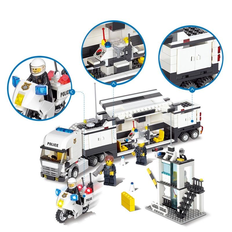 KAZI Bina Blokları Polis Bölməsi Model Bina Blokları Uyğun Legoe - Uşaq konstruktorları - Fotoqrafiya 3