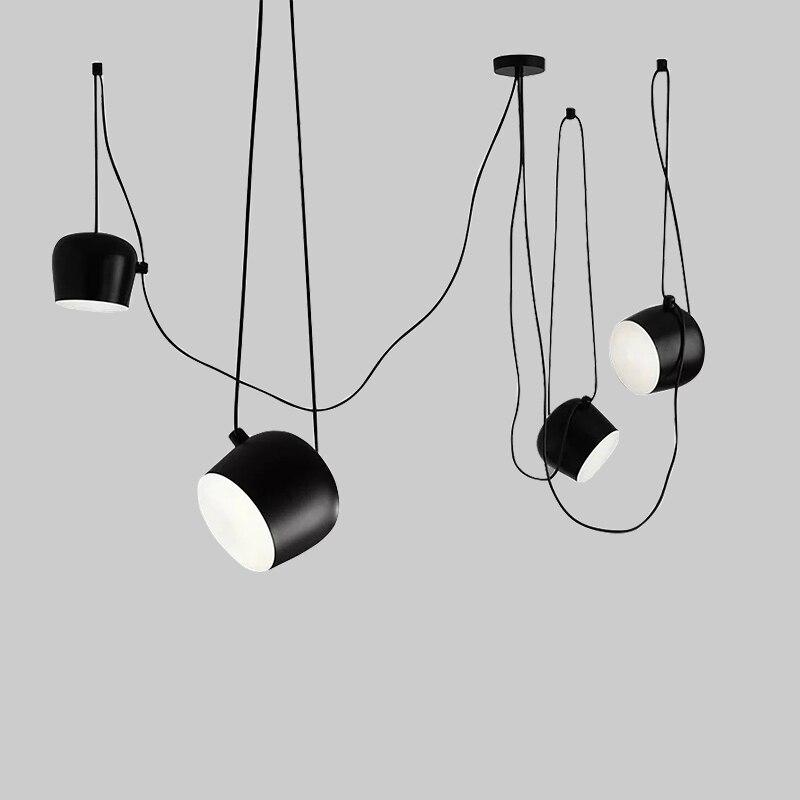 Bongos Creative DIY Office Pendant Lights Studio Modern Hang Lamp Suspension Luminaire Black / White AC110-240 Aluminum Lamp