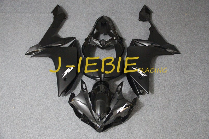 Black white Injection Fairing Body Work Frame Kit for Yamaha YZF 1000 R1 2007 2008