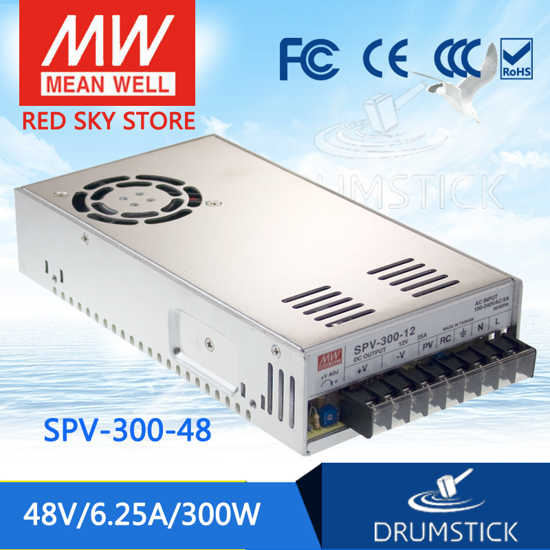 цена на Hot sale MEAN WELL original SPV-300-48 48V 6.25A meanwell SPV-300 48V 300W Single Output with PFC Function Power Supply