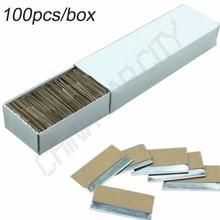 100pcs/box 1.5″ Automotive Double Edged Carbon Steel Razor Spare Blades for Mini Razor Scraper Knife For Glue Removing E13