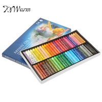 KiWarm 50 Colors Oil Pastels Chalks Set Soft Pastel Crayons Drawing Pens For Student Stationery School