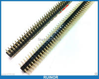 50pcs 2x40 Pin 2.54mm Double Row Male Round needle Header for Programmer IC PCB