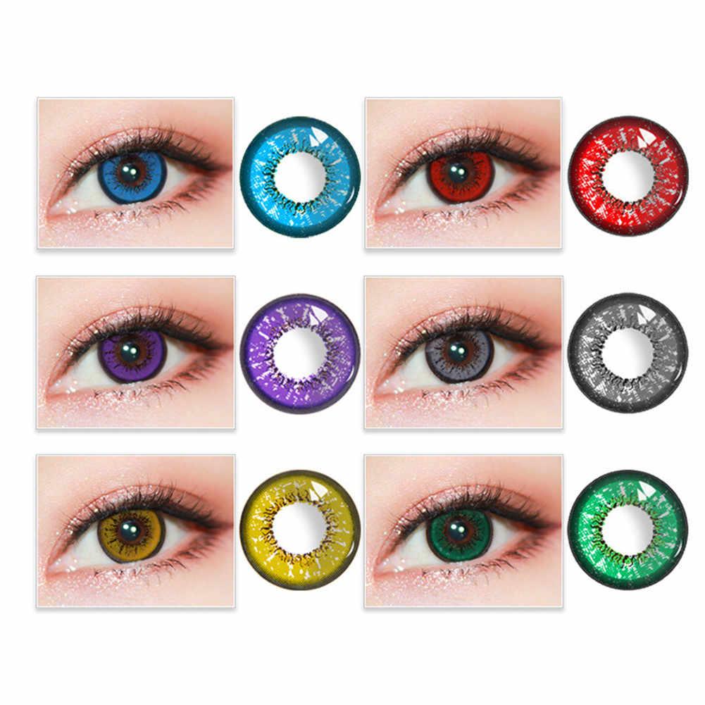 2Pcs FAI DA TE Cosplay Eye Strumento di Decorazione Multicolor Mini Regali Del Partito Sveglio Del Fumetto Della Ragazza Cosplay Decorazione Per Gli Occhi Strumento di Cura