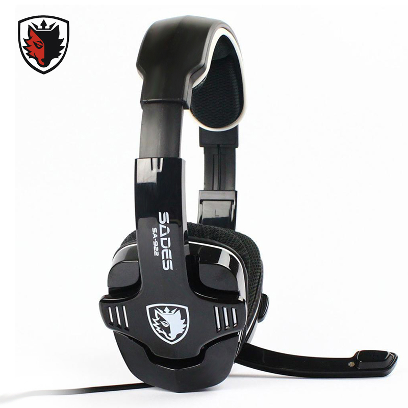 ФОТО SADES Pro PC Gaming Headphone for XBOX 360 Surround Sound Stereo for PS3 Headset with Microphone for Computer Gamer Video Game