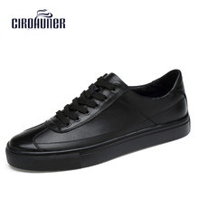 2017 New Fashion genuine leather men shoes handmade business office oxford comfortable men casual shoes Plue Size