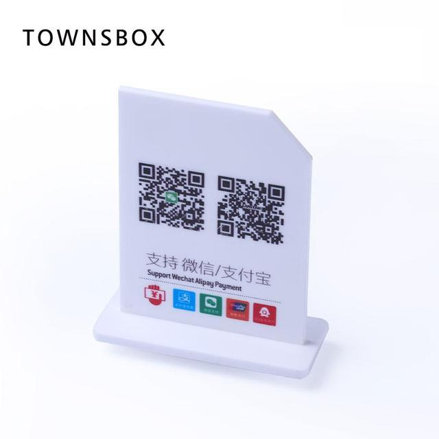 Acrylic Signage Stand Desk Sign Display Table Wechat QR Code Payment Scan Sweep Indicator Board Table Countertop Cashier Plate