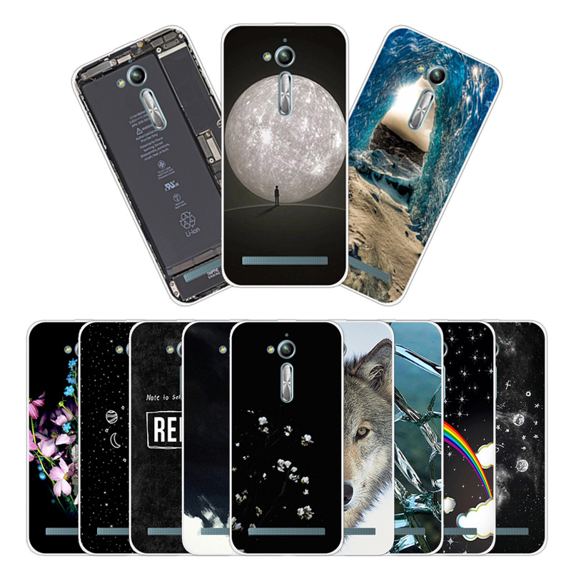 5.0 inch for Asus Zenfone Go ZB500KL ZB500KG Soft Silicone Covers for Asus ZB500KL Slim TPU Gel Phone Fitted Rainbow Cases