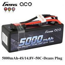 Gens ace 4S 5000 мАч 50C-100C 14,8 В Lipo Батарея с Деканы Разъем Батарея пакет для 1:8 1:10 RC автомобиль E Багги Truggy новое поступление