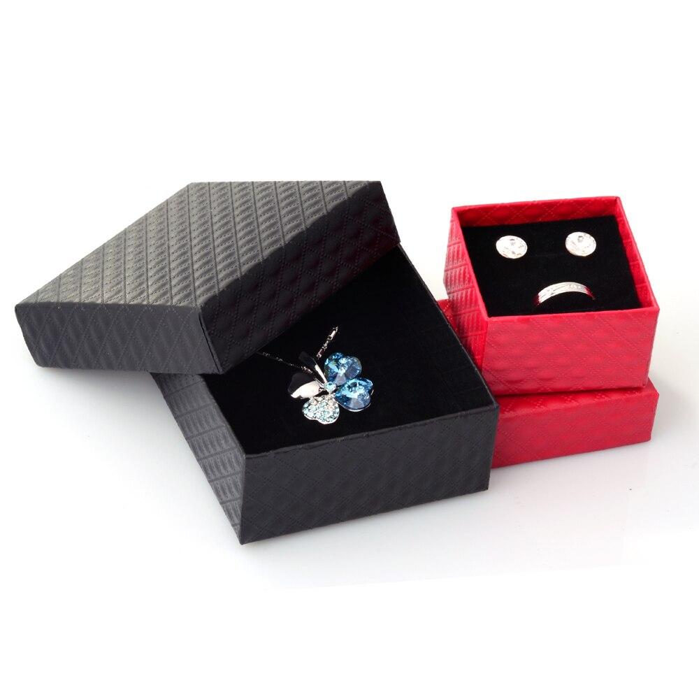 Квадратная шкатулка для ювелирных изделий, органайзер для ожерелий, серег, браслетов, подарочная упаковка, демонстрация обручального кольц...