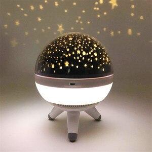 Image 4 - Coversage rotatif veilleuse projecteur Spin ciel étoilé étoile maître enfants enfants bébé sommeil romantique lampe Led USB Projection