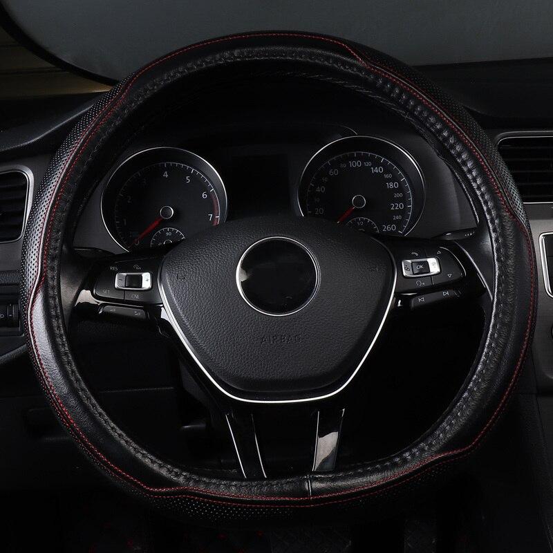 Couverture de volant de voiture non slip véritable accessoires en cuir pour vw volkswagen Arteon beetle fusca caddy gol Golf Variant