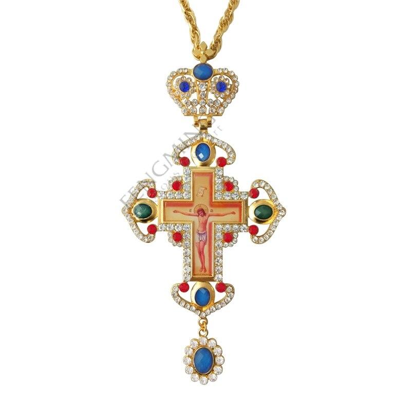 гръден кръст православен Исус - Декор за дома - Снимка 3