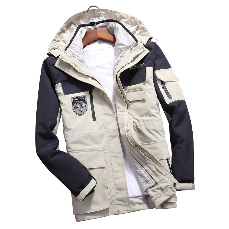 Men Women s Winter 2 Pcs Inside Cotton Paded Jackets Outdoor Sport Waterproof Thermal Hiking Ski