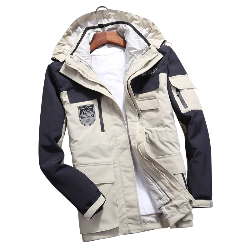 Men Women's Winter 2 Pcs Inside Cotton-Paded Jackets Outdoor Sport Waterproof Thermal Hiking Ski Mountain Climbing Jackets Coats