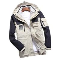 Men Women's Winter 2 Pcs Inside Cotton Paded Jackets Outdoor Sport Waterproof Thermal Hiking Ski Mountain Climbing Jackets Coats