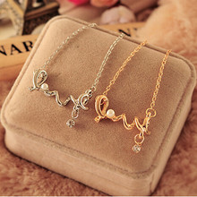 Fashion Character Letter LOVE Necklace Is A Woman's Wedding Necklace Gift Gold and Silver Necklace Can Be Given To Lover Jewelry