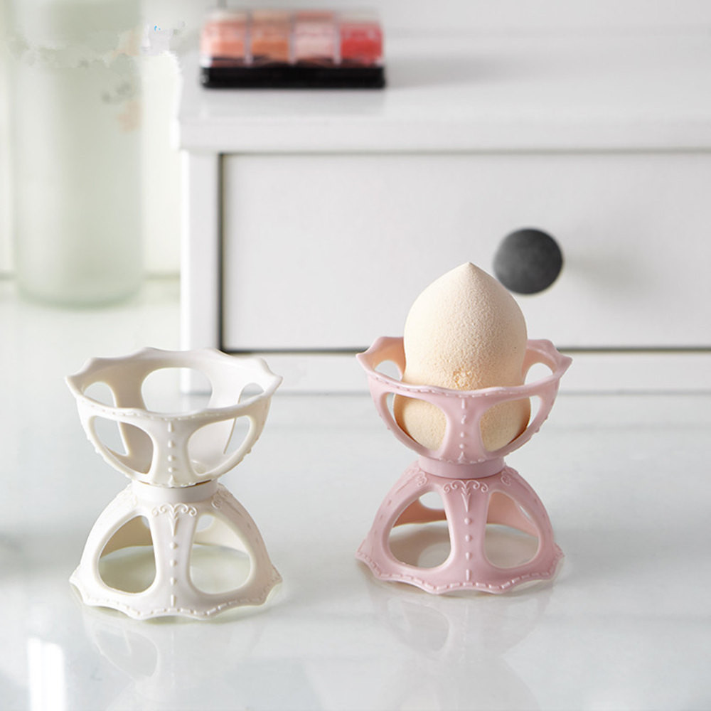 Cosmetic Puff Honesty 1pc New 4 Color Makeup Sponge Gourd Powder Puff Rack Egg Powder Puff Bracket Box Dryer Organizer Beauty Shelf Holder Tool