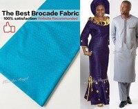 את האיכות הטובה ביותר 10 מטרים Atiku אמיתי רך תחרה brocade bazin riche גברים ונשים שמלת בגד בד 100% כותנה לתפירה