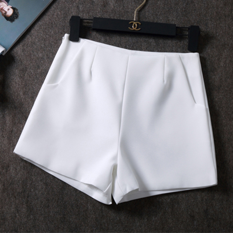 2019 Summer hot Fashion New Women   Shorts   Skirts High Waist Casual Suit   Shorts   Black White Women   Short   Pants Ladies   Shorts