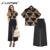 Plus Size XXXXL 2 Peça Set Mulheres Impressão Serpentina 2016 Tops + Calça Perna Larga Dois Set Pedaço conjunto feminino Mulheres terno