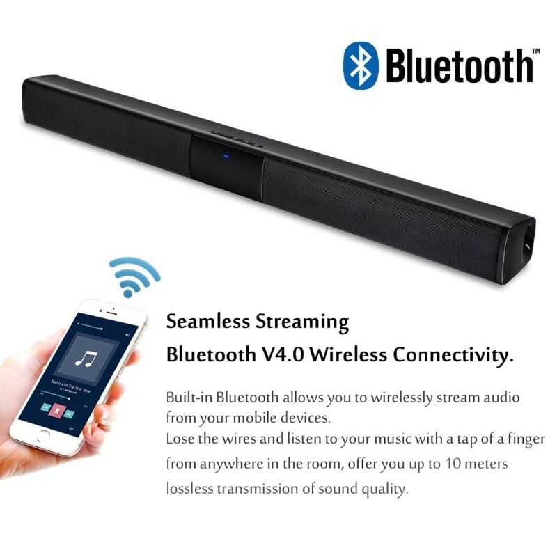 XGODY BS-28A Home cinéma Bluetooth barre de son TV Super basse stéréo haut-parleur haut-parleurs barre de son avec Subwoofer haut-parleur pour TV - 2