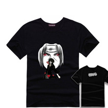 Anime NARUTO Uchiha Itachi T Shirts Short Sleeve Unisex Cotton T-shirts