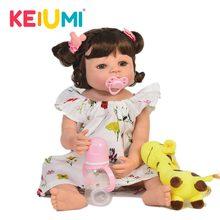 2cb17a32eafb7 Mode 22 Pouces Réaliste Reborn Fille Bébé Poupée À La Main Silicone corps  entier Princesse poupée nouveau-née Kid cadeau de noël.