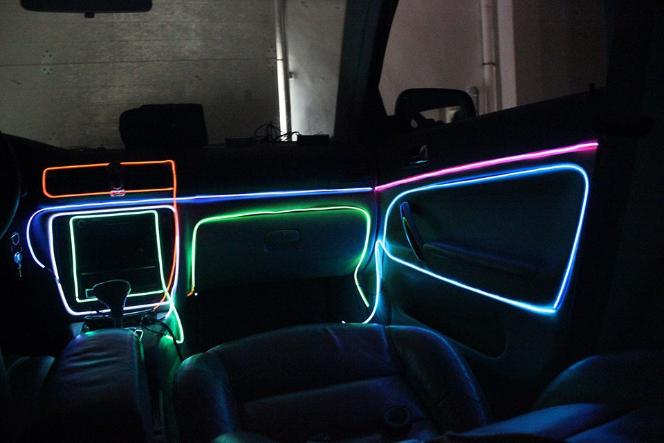 Colorful Flexible EL Wire Internal Cold Neon Light for Car/Party Decoration 3m Electroluminescent Car accessories Hot Sale