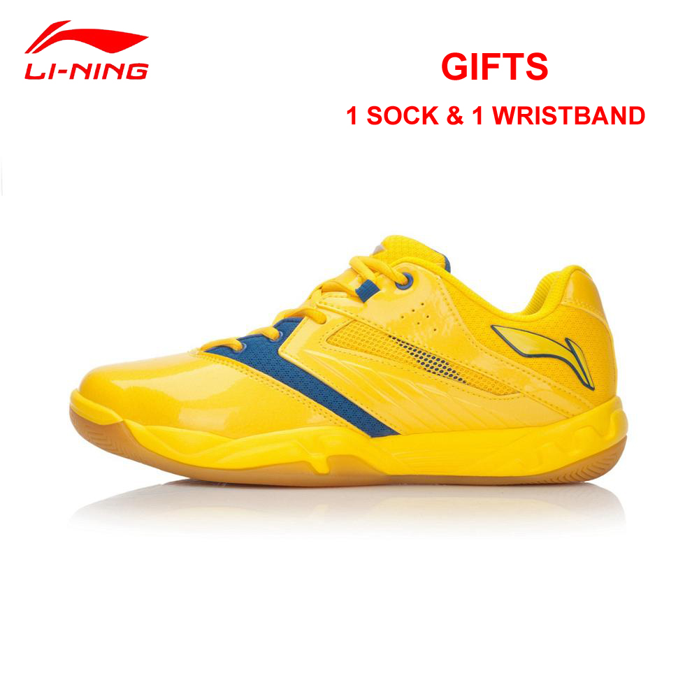 Li-Ning Men and Women Badminton Shoes Breathable Anti-Slippery Sneakers Professional Lining AYTL025/AYTL034 Sports Indoor Shoe li ning men indoor training shoes breathable cushioning anti slippery hard wearing sneakers lining sport shoes asnh009 yxx003