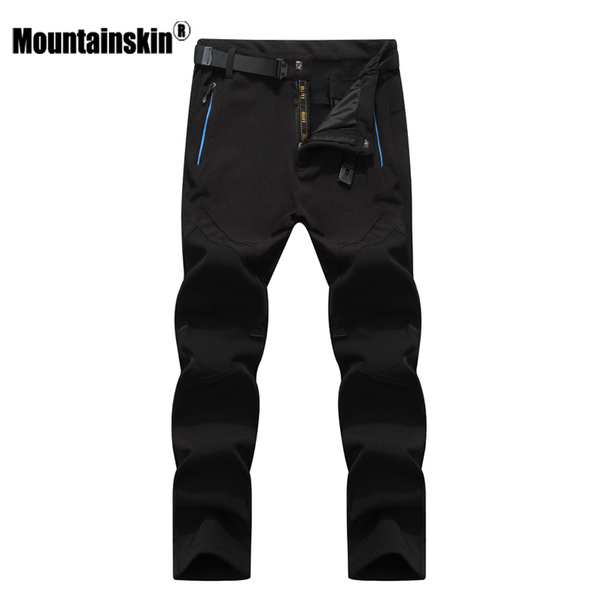 Mountainskin 5XL Men's Winter Softshell Inner Fleece Pants Fashion Waterproof Male Trousers Jogger Thick Brand Warm Pant SA401