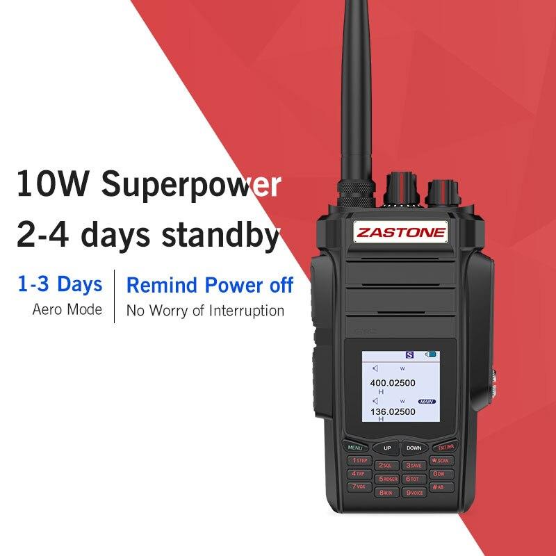 Zastone 10W Radio 5-10km Walkie Talkie 136-174/400-480 Mhz Dual Bands VHF/UHF Two Way Radio FM Ham Radio Zastone A19 Telsiz