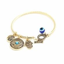 European and American jewelry wholesale Turkish blue eyes Fatima hand pendant devil eye bracelet bracelet