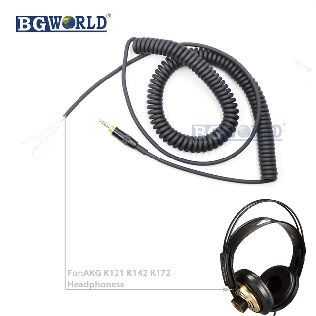 BGWORLD Replacement Coiled DJ Wire Cable Line Plug earohone cables ...