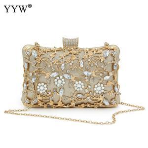 Image 5 - Pochette en cristal pour femmes, pochette de soirées et de mariages, sacs de luxe à bandoulière avec chaîne, sac à bandoulière avec strass