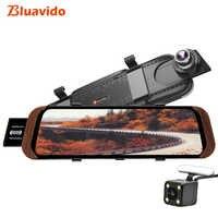 Bluavido 10 pouces 4G ADAS Android voiture rétroviseur DVR caméra GPS Navigation FHD 1080 P Dash cam enregistreur vidéo moniteur WiFi