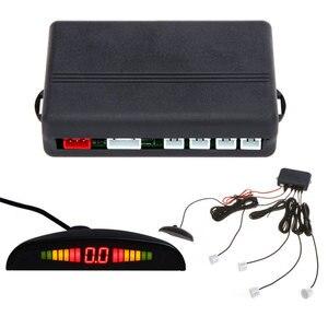 KKmoon Car LED Parking Sensor Monitor 4 Sensors Parking Assistance Auto Reverse Radar Detector System Backlight Display